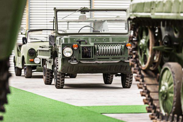 Militärischer Geländewagen im NVA Museum Rügen in Prora