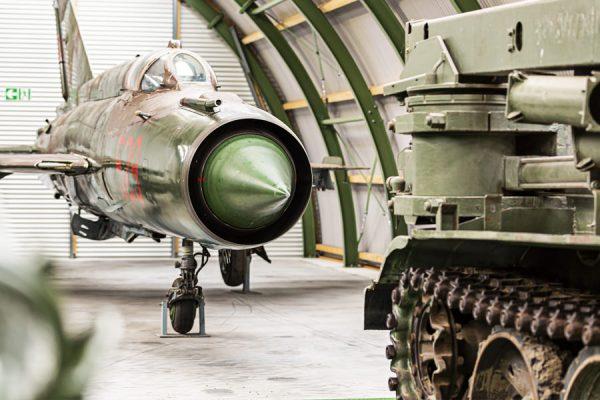 Mikojan-Gurewitsch MiG-21 im NVA Museum Rügen in Prora