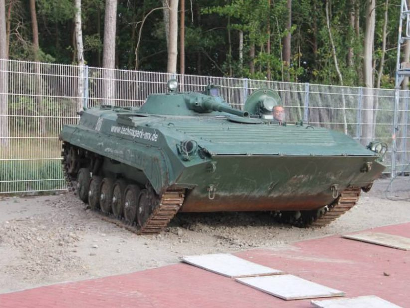 Panzerfahrzeug T-55 im NVA Museum Rügen in Prora